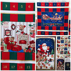 CHRISTMAS advent calendar panels 100 % cotton - easy to make  4 designs