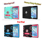 Shockproof Heavy Duty Rubber With Hard Stand Case Cover For iPad Whole Series