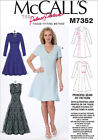 McCalls 7352 Palmer Pletsch Jewel V-Neck Fit & Flare Dress Sewing Pattern M7352