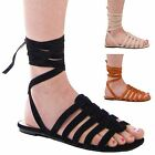 LADIES WOMENS STRAPPY FLAT SUMMER SANDALS CASUAL FORMAL BEACH WEAR SHOES