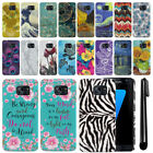 For Samsung Galaxy S7 Edge G935 PATTERN HARD Back Case Phone Cover + Pen