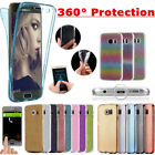 Shockproof 360° Protective Silicone Clear Case Cover For Samsung Galaxy Phones