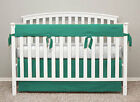 Baby Crib 4pcTeething Rail Cover 2pc Long Side 2pc Short side 100% Cotton Solid