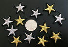 80pcs 3cm gold/silver star embroidered clothes dress appliques patches 381
