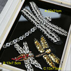 1-3pcs gold/silver dragonfly sequins beads Rhinestones appliques patches 3568