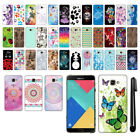 For Samsung Galaxy A9 A9000 PATTERN HARD Back Case Phone Cover + Pen