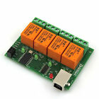 USB Relay 4 Channel Programmable Computer PC Smart Control Switch Controller v2