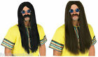 1960's Hippie Hippy Long Wig & Blue Ozzy Lennon Glasses 60's Fancy Dress