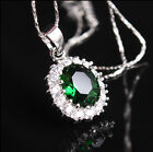 Fashion Jewely Necklace White Gold Plated Red&Blue&Purple&Green Zirconia Inlay