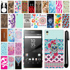 "For Sony Xperia Z5 Premium 5.5"" PATTERN HARD Back Case Phone Cover + Pen"