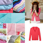 Womens Long Sleeve Knitted Cardigan Coat Jacket Outwear Casual Loose Sweater Top