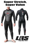 NEW Adrenalin Mens Ballistic 3/2mm Sealed Steamer Wetsuit Long Sleeve