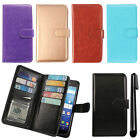 For Kyocera Hydro Wave C6740 C6745 Magnetic Card Holder Wallet Cover Case + Pen