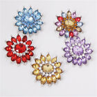 2016 Wholesales Flower Rhinestone Alloy Buttons Snaps Chunk Button 18mm