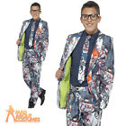 Teen Zombie Suit Costume Boys Halloween Fancy Dress Outfit New