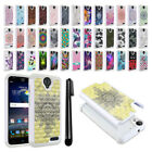 For ZTE Grand X3 Z959 N9519 Anti Shock Studded Bling HYBRID Case Cover + Pen