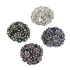 New Chic Flower Shaped Rhinestone Buttons Alloy Charms Jewellery Buttons 18mm