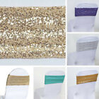 75 Spandex Sequined CHAIR SASHES Ties Wraps Wedding Party Decorations SALE $185.01 USD