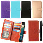 For LG Google Nexus 5X Leather Flip Magnetic Card Holder Wallet Cover Case + Pen