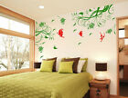 Big Butterfly In Tree Branch Blossom Wall Mural Home Decor Vinyl Decal Sticker