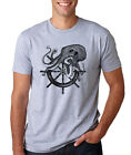 Octopus Pirate Ship Wheel Sailor Nautical Diving Anchor Ship Sailing T-shirt