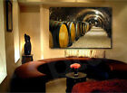 Wine Cellar Barrels Winery Art Canvas Poster Print Home Wall Decor photo