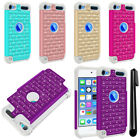 For Apple iPod Touch 5 5th/ 6 6th Gen Luxury HYBRID Bling Case Cover + Pen