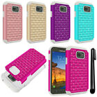For Samsung Galaxy S7 Active G891 Luxury HYBRID Bling Case Phone Cover + Pen