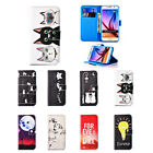 New Colored Drawing Leather Magnetic Stand Case Cover for Samsung Galaxy S6