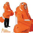 Adult Clown Fish Costume Nemo Unisex Novelty Fancy Dress Outfit New