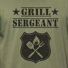 GRILL SERGEANT grilling smoking grill BBQ camping outdoors Father's Day T-Shirt