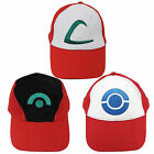 Pokemon Trainer Satoshi ASH KETCHUM Embroidered Anime Costume Cosplay Cap