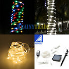 42.6FT 100LED Outdoor Fairy String Rope Light Solar/Power controller Waterproof
