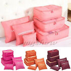 6 Pcs Clothes Underwear Socks Packing Cube Storage Bag Travel Luggage Suitcase