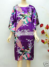 New Sleepwear Peacock Pyjama Night Dress Kimono Oriental Kaftan Nightwear Robes