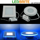 Square / Round LED Recessed Ceiling Panel Down Light Clear Glass Fitting