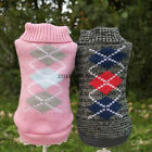 NEW Autumn Diamond Dog Pet Puppy Sweater Jumper For Small Dogs XS S M L XL
