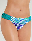 Just Peachy By Figleaves.com Womens Long Island Solid Ruched Bikini Brief