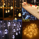 10ft 120 LED Window Ball Linkable String Curtain Lights Wedding Chrismas 8 Modes