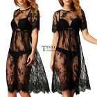 New Women Sexy Hollow Lace Crochet Bikini Swimwear Cover Up Beach Dress TXSU