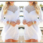 Fashion Women's Long Sleeve Lace Casual Blouse Loose Fashion Floral Tops T Shirt