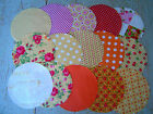 Shabby Chic Assorted Fabric Jam, Preserve or Chutney Pot Covers Set of 5 or 3