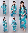 Japanese Kimono Fashion Vintage Yukata Women's Robe Gown Costume Haori Dress