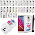 For Huawei Honor 5X Crystal Bling HYBRID Case Protective Phone Cover + Pen