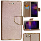 ROSE GOLD DIARY WALLET STYLE FLIP FLAP COVER CASE For LAVA A71 4G