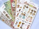 Paper Doll Mate Transparent Sticker Sheet (Your Choice of Design)~KAWAII!!! $1.5 USD