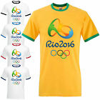 Rio 2016 Olympics Ringer T-Shirt - Athletics Team Brazil Inspired Fan Mens Top