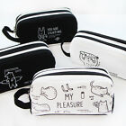 Cartoon Cat Student Pencil Pen Case Box Makeup Pouch Pocket Brush Holder Bag