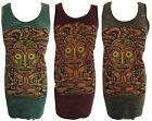 Boho Summer Yoga Top Vest Dress Cotton Hippy M Aztec Colourful Festival Ethnic