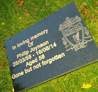 Granite custom made headstone, plaque engraved